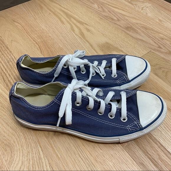 Converse Blue Low Top Sneakers Sz 9.5 Women
